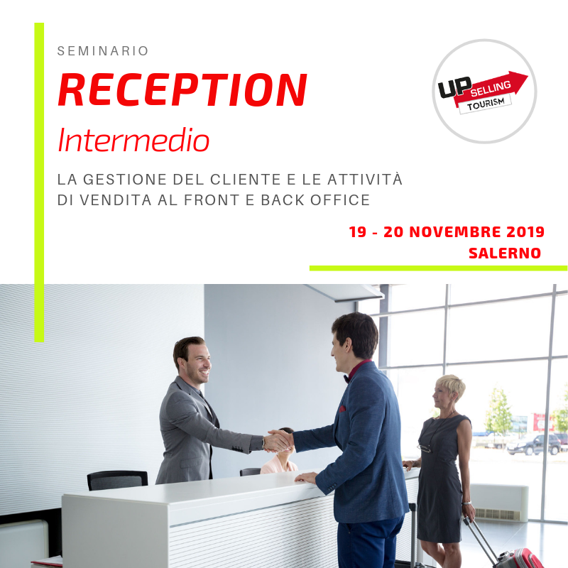 Corso Reception intermedio 19 e 20 novembre 2019 a Salerno